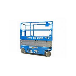 plataforma tijera eléctica gs-2632 alquiler de maquinaria menorca
